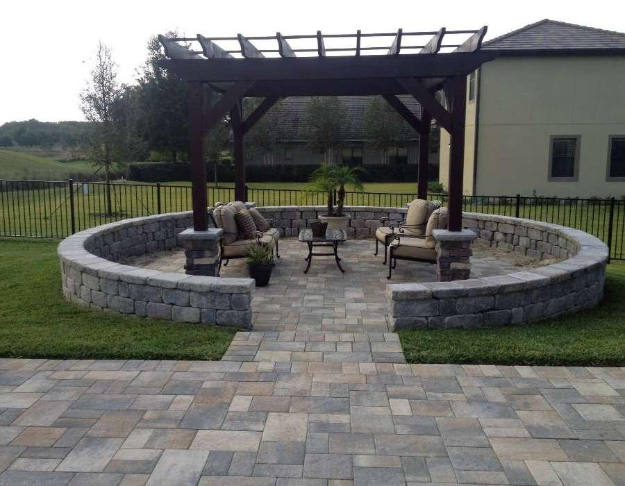 backyard pergola, orlando expert hardscape builder